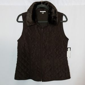 NWT Kim Roger's Vest with Removable Collar Large